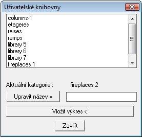 Uživatelské knihovny symbolů
